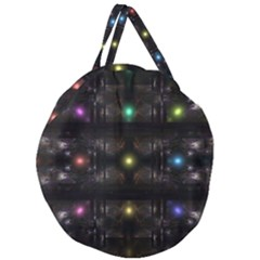 Abstract Sphere Box Space Hyper Giant Round Zipper Tote by Simbadda