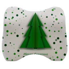 Fir Tree Christmas Christmas Tree Velour Head Support Cushion by Simbadda