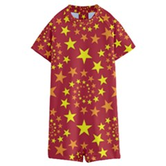 Star Stars Pattern Design Kids  Boyleg Half Suit Swimwear