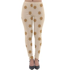 Pattern Gingerbread Star Lightweight Velour Leggings