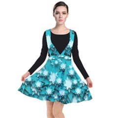Stars Christmas Ice Decoration Plunge Pinafore Dress