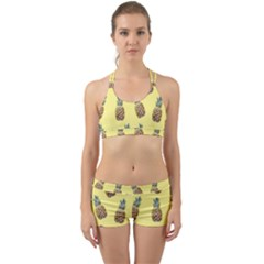 Pineapples Fruit Pattern Texture Back Web Gym Set by Simbadda
