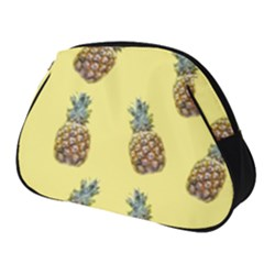 Pineapples Fruit Pattern Texture Full Print Accessory Pouch (small) by Simbadda