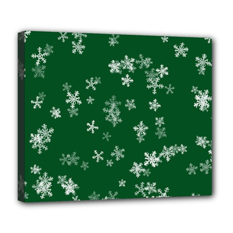 Template Winter Christmas Xmas Deluxe Canvas 24  X 20  (stretched) by Simbadda