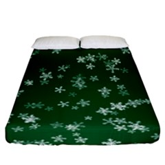 Template Winter Christmas Xmas Fitted Sheet (california King Size)