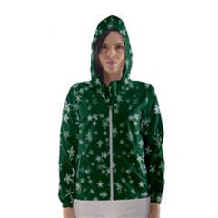 Template Winter Christmas Xmas Hooded Windbreaker (women)