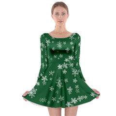 Template Winter Christmas Xmas Long Sleeve Skater Dress