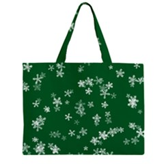Template Winter Christmas Xmas Zipper Large Tote Bag