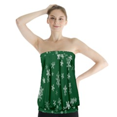 Template Winter Christmas Xmas Strapless Top