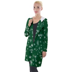Template Winter Christmas Xmas Hooded Pocket Cardigan