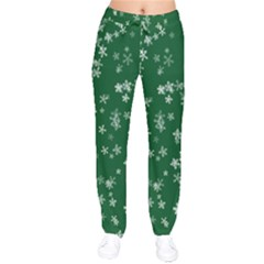 Template Winter Christmas Xmas Velvet Drawstring Pants