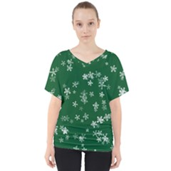 Template Winter Christmas Xmas V Neck Dolman Drape Top