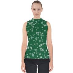 Template Winter Christmas Xmas Mock Neck Shell Top