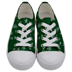 Template Winter Christmas Xmas Kids  Low Top Canvas Sneakers