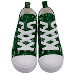 Template Winter Christmas Xmas Kid s Mid Top Canvas Sneakers