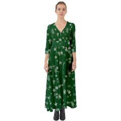 Template Winter Christmas Xmas Button Up Boho Maxi Dress