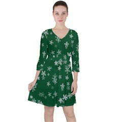 Template Winter Christmas Xmas Ruffle Dress
