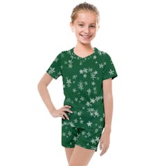Template Winter Christmas Xmas Kids  Mesh Tee And Shorts Set