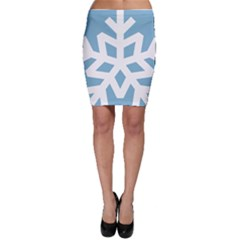 Snowflake Snow Flake White Winter Bodycon Skirt