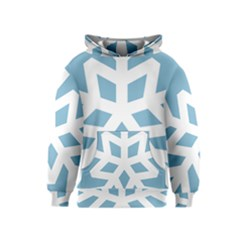 Snowflake Snow Flake White Winter Kids  Pullover Hoodie