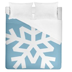 Snowflake Snow Flake White Winter Duvet Cover (queen Size)