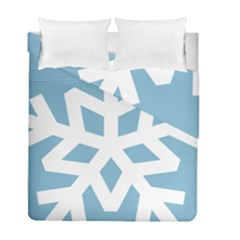Snowflake Snow Flake White Winter Duvet Cover Double Side (full/ Double Size)