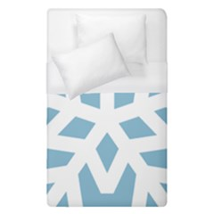 Snowflake Snow Flake White Winter Duvet Cover (single Size)