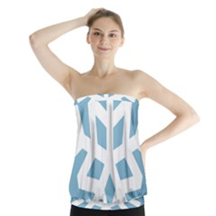 Snowflake Snow Flake White Winter Strapless Top