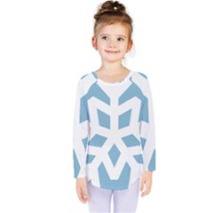 Snowflake Snow Flake White Winter Kids  Long Sleeve Tee