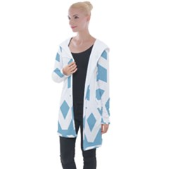 Snowflake Snow Flake White Winter Longline Hooded Cardigan