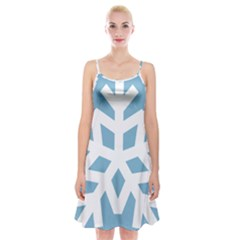 Snowflake Snow Flake White Winter Spaghetti Strap Velvet Dress