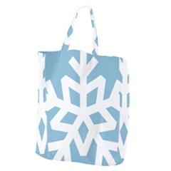 Snowflake Snow Flake White Winter Giant Grocery Tote