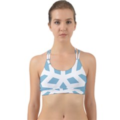 Snowflake Snow Flake White Winter Back Web Sports Bra