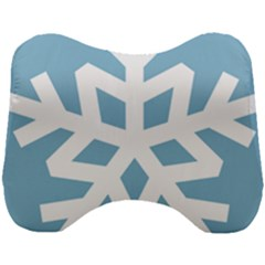 Snowflake Snow Flake White Winter Head Support Cushion