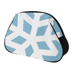 Snowflake Snow Flake White Winter Full Print Accessory Pouch (small)