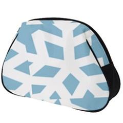Snowflake Snow Flake White Winter Full Print Accessory Pouch (big)
