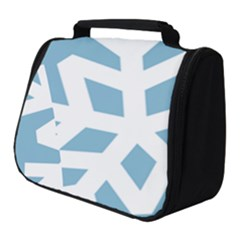 Snowflake Snow Flake White Winter Full Print Travel Pouch (small)