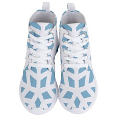 Snowflake Snow Flake White Winter Women s Lightweight High Top Sneakers