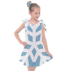 Snowflake Snow Flake White Winter Kids  Tie Up Tunic Dress