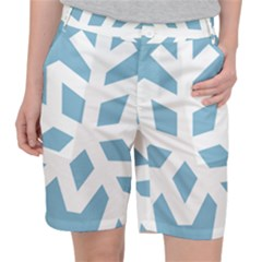 Snowflake Snow Flake White Winter Pocket Shorts