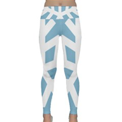 Snowflake Snow Flake White Winter Lightweight Velour Classic Yoga Leggings
