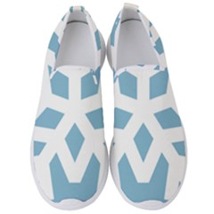Snowflake Snow Flake White Winter Men s Slip On Sneakers