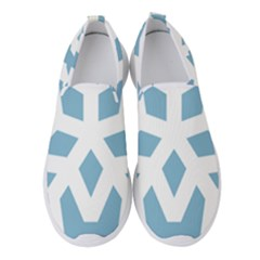 Snowflake Snow Flake White Winter Women s Slip On Sneakers