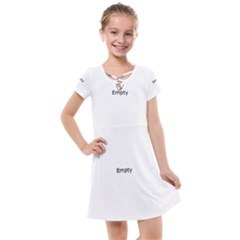 Abstract Arrow Pattern Kids  Cross Web Dress