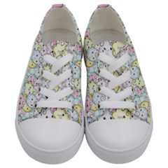 Cutie Pie Clouds Kids  Low Top Canvas Sneakers