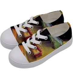 Cosmicchristmastree Kids  Low Top Canvas Sneakers by chellerayartisans