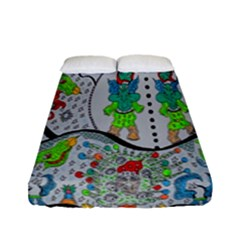 Supersonic Volcano Snowman Fitted Sheet (full/ Double Size)