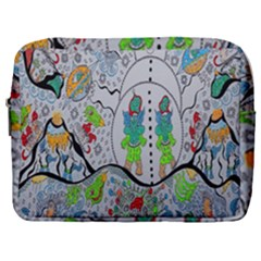 Supersonic Volcano Snowman Make Up Pouch (large) by chellerayartisans