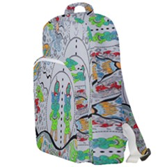 Supersonic Volcano Snowman Double Compartment Backpack by chellerayartisans