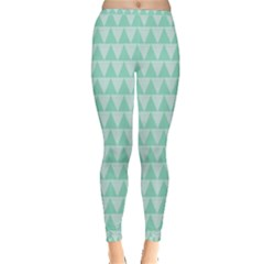 Mint Triangle Shape Pattern Inside Out Leggings